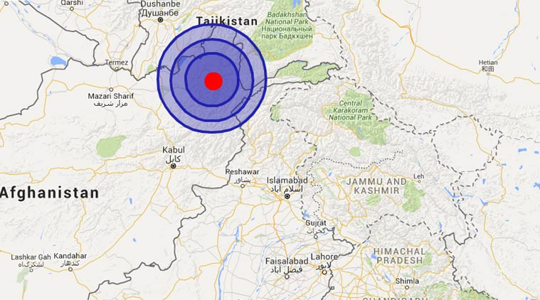Earthquake North India, Pakistan, and Afghanistan